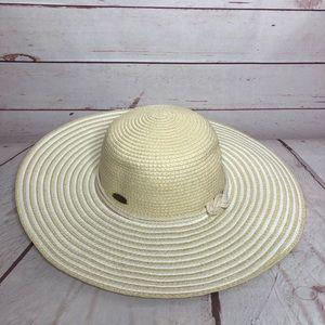 Panama Jack Paper Braid Sun Hat Floppy  One Size